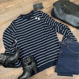 The Fifth Label Navy Stripe top